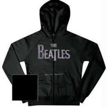 Picture of Beatles Sweat Shirt: - Beatles Zippered Charcoal Hooded