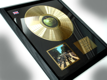 """Picture of Beatles Record Award: """" Abbey Road"""" 24ct GOLD"""