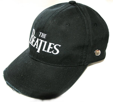 Picture of Beatles Cap: The Beatles Drop T Logo Distressed (Black)