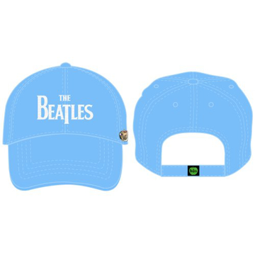 Picture of Beatles Cap: The Beatles Drop T Logo Distressed (Light Blue)