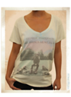 Picture of Beatles T-Shirt: Women's George Harrison Classic Medium - Jrs/Ladies