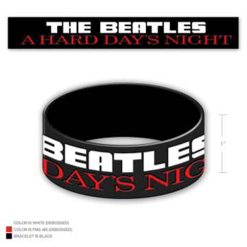 Picture of Beatles Wrist band: Hard Day's Night