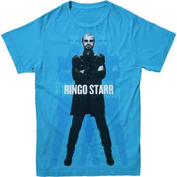 Picture of Beatles Adult T-Shirt: Ringo Portrait