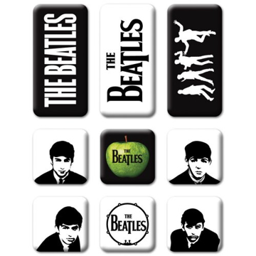 Picture of Beatles Magnets: Collectible: Portraits Drop T Set of 9 Magnets