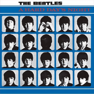"""Picture of Beatles Sign:  """"Hard Day's Night"""" Album Cover"""