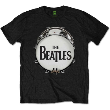 Picture of Beatles Adult T-Shirt: Drum Skin Logo - Black
