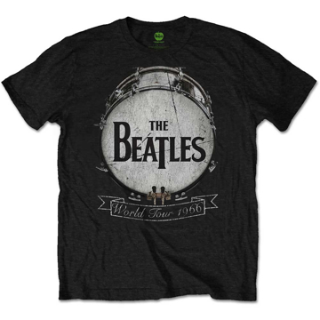 Picture of Beatles Adult T-Shirt: Drum Skin Logo 66 Tour - Black