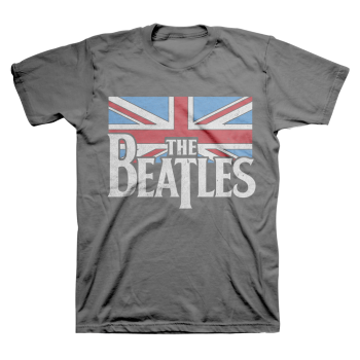 Picture of Beatles Adult T-Shirt: British Flag