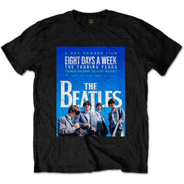 Picture of Beatles Adult T-Shirt: Eight Days a Week Movie Poster - Black