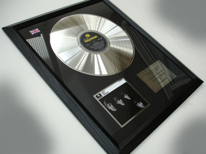"Picture of Beatles Record Award: ""WITH THE BEATLES""  PLATINUM"