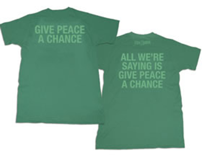 Picture of Beatles T-Shirt: Green Give Peace a chance