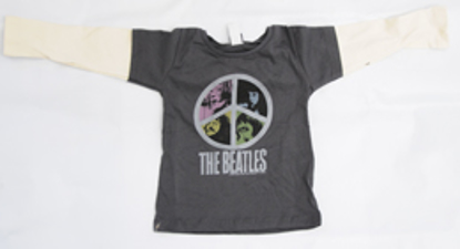 Picture of Beatles T-Shirt: 2-Fer: Infant Peace Sign Junk food