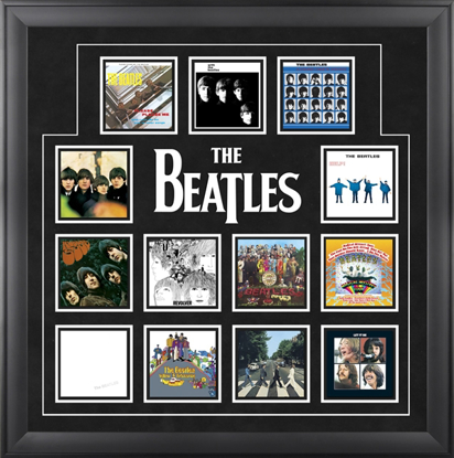 "Picture of Beatles ART: The Beatles ""UK Album Covers"" framed presentation"