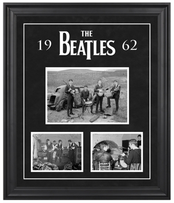 "Picture of Beatles ART:The Beatles ""1962"" framed presentation"