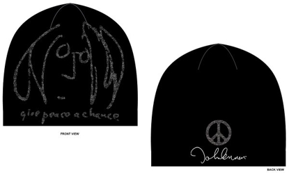 "Picture of John Lennon Beanie: Gray ""Peace Self Portrait"""