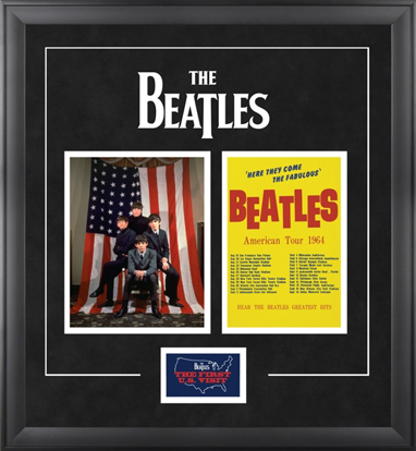 "Picture of Beatles ART: The Beatles ""1964 U.S. Tour"" framed presentation"