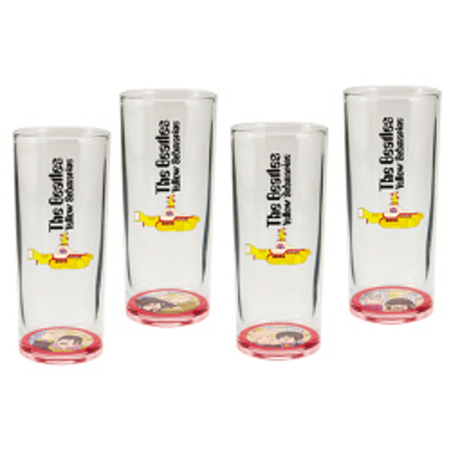 "Picture of Beatles Drink-Ware: ""Yellow Submarine"" 4 pc. 10 oz. Glasses Set"