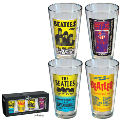 Picture of Beatles Glass: Poster Print Glasses