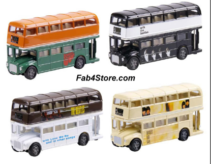 Picture of Beatles Toy: Dbl Decker Buses Set of Four