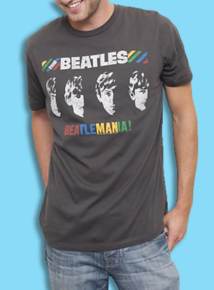 "Picture of Beatles T-Shirt: Multi Colors ""Beatlemania"""