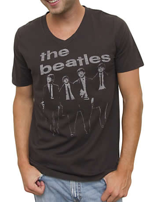 Picture of Beatles T-Shirt: 1963 Vintage VNeck Tee