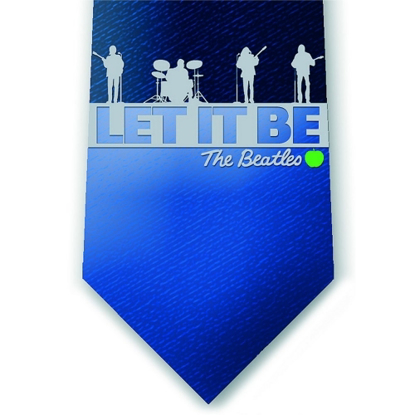 Picture of Beatles Tie: Blue Let It Be Silk Tie