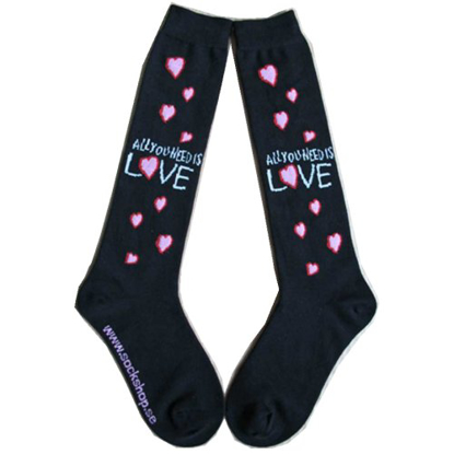 Picture of Beatles Socks: The Beatles Women's Knee High Socks (Black) All You Need