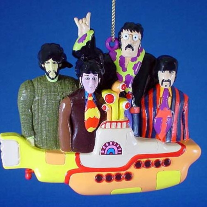 Picture of Beatles Ornament: The Beatles on the Yellow Submarine
