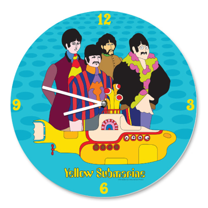 Picture of Beatles Clock: Yellow Submarine Wall Clock