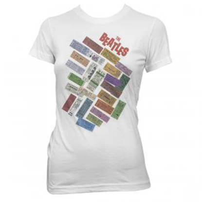 Picture of Beatles Female T-Shirt: Beatles 1964 Concert Tickets