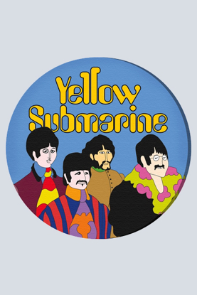 "Picture of Beatles ART: 36"" Round Yellow Submarine"
