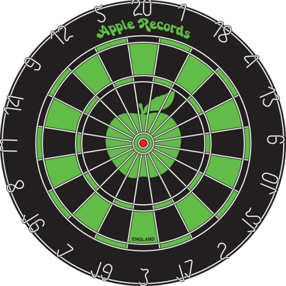 Picture of Beatles Dart Board: Apple Logo Dart Board