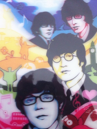 Picture of Beatles Postcard:  3-D Post  Card