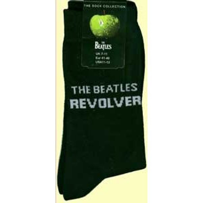 Picture of Beatles Socks: The Beatles Mens (Black) Revolver socks