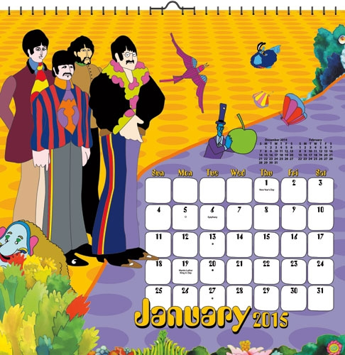 Beatles Calendars Beatles Fab Four Store Exclusively