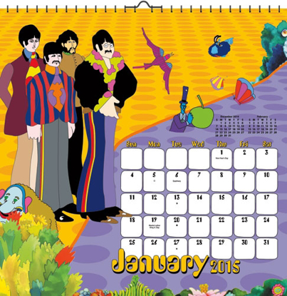 Picture of Beatles Calendar: 2015 Yellow Submarine Wall Calendar