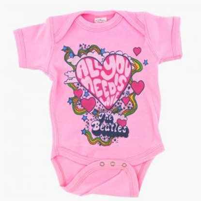 "Picture of Beatles Onesie: Girls ""All You Need is Love"""