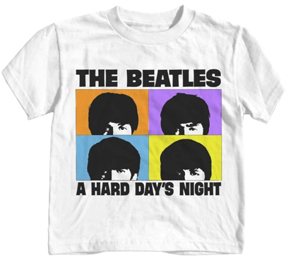 Picture of Beatles T-Shirt: Beatles Toddler Hard Day's White