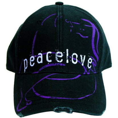 "Picture of Beatles Cap: John Lennon ""Peacelove"" distressed cap"