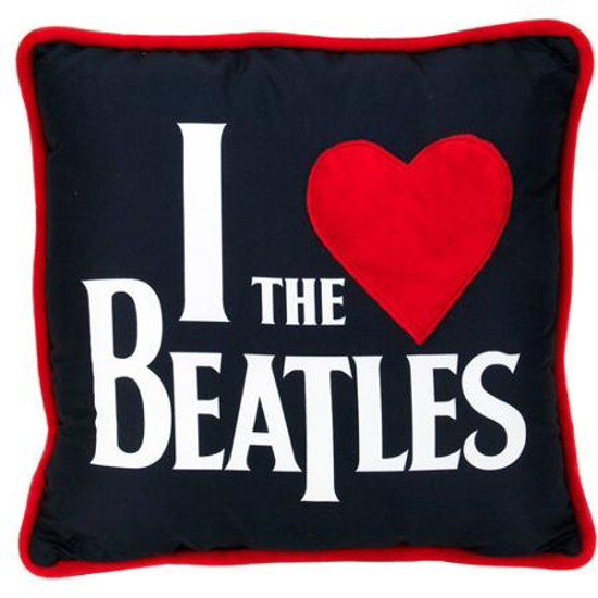 "Picture of Beatles Pillow: The Beatles ""I Love The Beatles"" 14"" Deco Pillow"