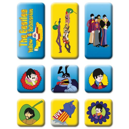Picture of Beatles Magnets: Collectible: Yellow Submarine Set of 9 Magnets