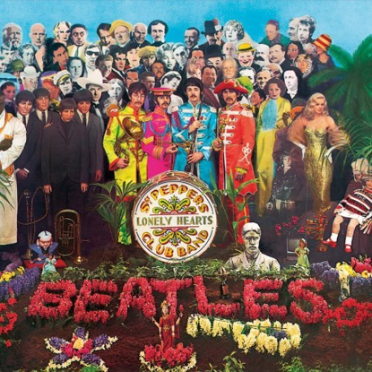 "Picture of Beatles Sign:  ""Sgt. Pepper's"" Album Cover"