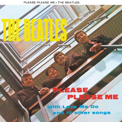 "Picture of Beatles Sign:  ""Please, Please Me"" Album Cover"