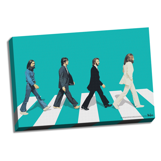 "Picture of Beatles ART: 36""  X 24""  The Beatles Abbey Road Color Canvas"