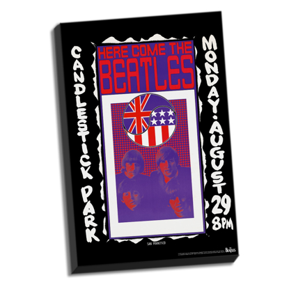 "Picture of Beatles ART: The Beatles Candlestick Park Final Concert Stretched 24"" x 36"" Canvas"