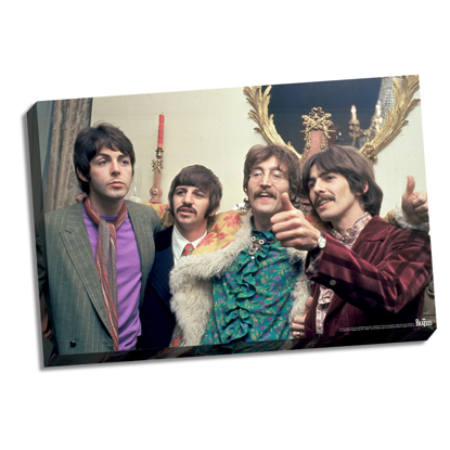 "Picture of Beatles ART: The Beatles Thumbs Up Stretched 22' x 26"" Canvas"