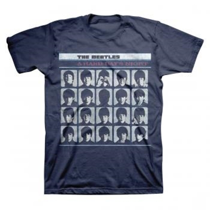 "Picture of Beatles Adult T-Shirt: ""A Hard Days Night"" - Dark Blue"