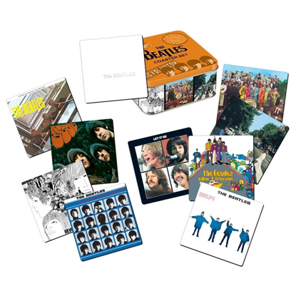 Picture of Beatles Coasters: Set of 10 Album Cover Coasters with Collectible Tin