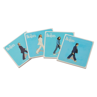 Picture of Beatles Coasters: Four Abbey Road Ceramic Coasters