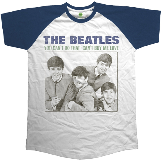 Picture of Beatles Adult T-Shirt: Beatles Can't Buy Me Love Raglan